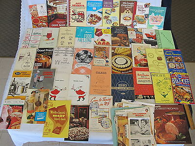 Vintage Advertising Recipes Cookbooks 40's-80's Lot of 40 + Cooking & Manuals