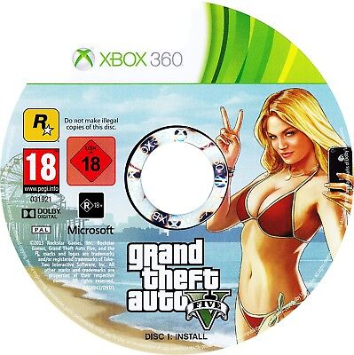 Xbox 360 - Grand Theft Auto V (GTA 5) Xbox 360 DISC 1 ONLY - FAST DELIVERY