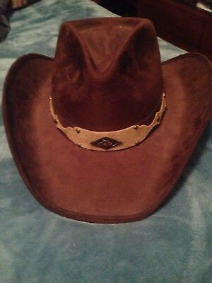 4b365d6586f Cow Boy Hat BullHide Large Mint Condition Brown Solid Top