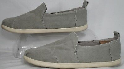 a260e56c733 TOMS Men s  Deconstructed Alpargata  Drizzle Grey Washed Canvas Shoe ...