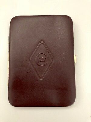 Concorde leather red business credit card holder british airways concorde leather red business credit card holder british airways rare reheart Image collections