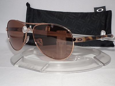 3b3a37d29b OAKLEY FEEDBACK AVIATOR SUNGLASSES OO4079-01 Rose Gold   VR50-Brown Gradient