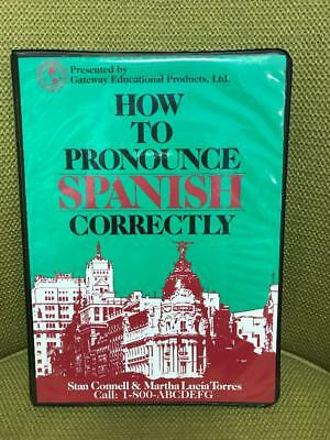 How to Pronounce Spanish Correctly Book & Cassette Connell Lucia Torres