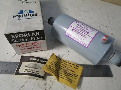 "Sporlan SF-286-T Suction Filter, 3/4"" ODS, with Access Valve"