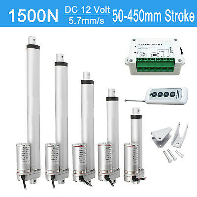 "1500N Linear Actuator DC 12V 2""-18"" Electric Motor Auto Lift Remote Controller"