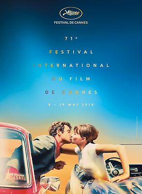 "Cannes Film Festival 2018 Official Original Poster 31 1/2"" 23 5/8"" Rolled Mint"