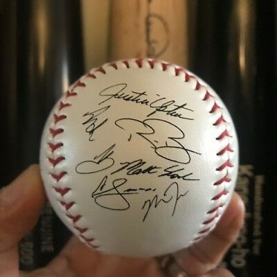Rawlings 2018 LA Angels Team Autographs Sign Ball (Trout, Pujols, Upton...)