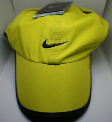 New Nike Feather Light Cap Hat Dri Fit Running Tennis  595510-301 Lime