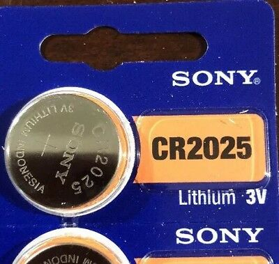 1 SONY CR2025 DL2025 BR2025 Lithium Coin Cell Battery 3V Exp 2027 Fast Shipping