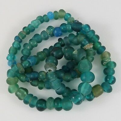Ancient Tradewind Indo-Pacific Beads  / Bigger Blue Beads!