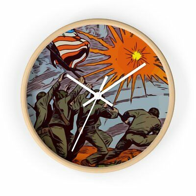 Iwo Jima WW2 Wall clock Vintage Comic Book