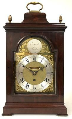Early English Single Fusee Mahogany 8 Day London Bell Top Bracket Clock 1790 Wow