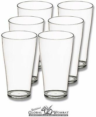Set 6x Trinkgläser 500 ml Polycarbonat bruchsicher - Camping, Catering, Party
