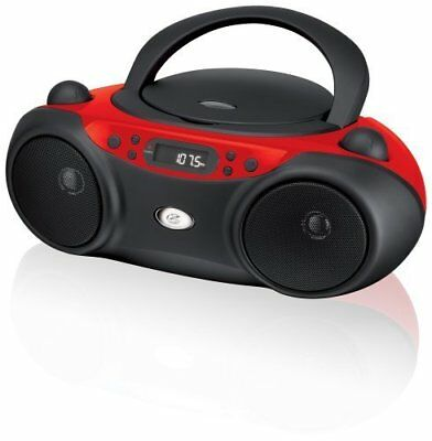 GPX Portable CD Boombox with AM/FM Radio and 3.5mm Line In for MP3 Device