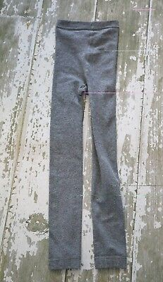 NWOT JUSTICE Heathered Gray Fleece Lined Footless Tights Large 10 12