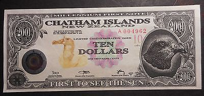 New Zealand Chathan Islands 2001 series B   $10  Dollar   Note  UNC