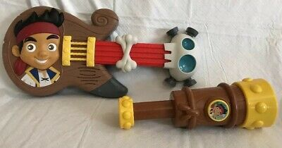 Disney Junior Jake And The Neverland Pirates Toy Guitar & Telescope Music Sounds