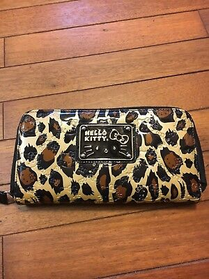 a43a6ca4f Hello Kitty Sanrio Loungefly Leopard Cheetah Print Zip Wallet
