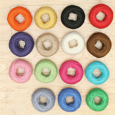 25m Hemp Craft Colorful Twine Rustic String Natural 2mm Rope Diy Linen Cord Jute