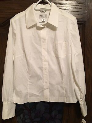 Talbots Womens White Dressy Blouse Size 16 New With Tags 20 00