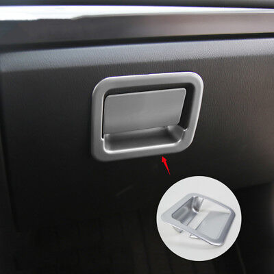 2pc chrome Truck Parts Glove Boxes Cover Trim Fit For Mazda 3 M3 2014-2018
