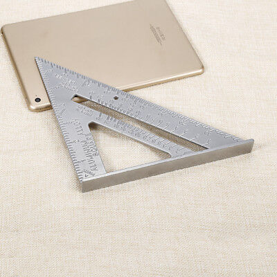 "Aluminum Alloy Triangle Ruler 7""Combination Carpenter's Protractor Rular Tool GY"