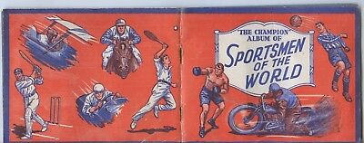 1930's Swap Cards In Album Sportsmen Of The World The Champion Boys' Weekly G57