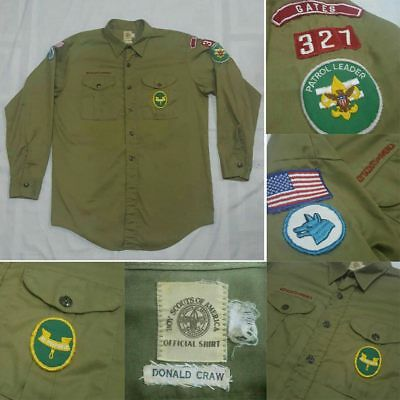 Vtg.Boy Scouts of America Uniform shirts -Olive Green