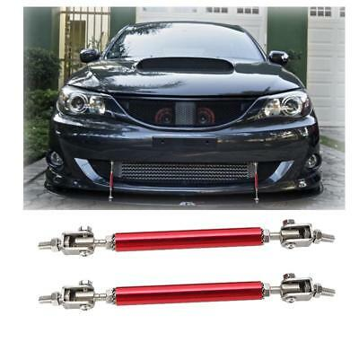 "2x Red 4.5-8"" Adjustable Front Rear Splitter Frame Bumper Protector Rods Support"