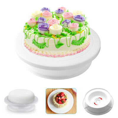 28Cm Rotating Diy Cake Icing Decorated Revolving Kitchen Display Stand Turntable