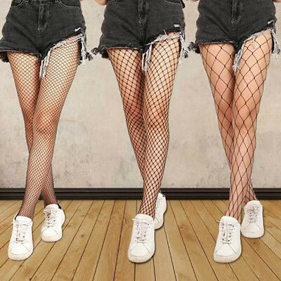 Women Ladies Black Mesh Fishnet Net Pattern Pantyhose Stockings Sock AU Proper