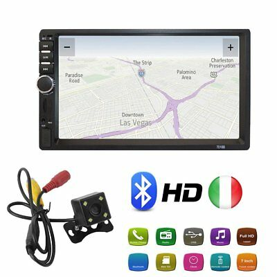 "7 ""HD USB Touch Screen Bluetooth Car Stereo Radio FM Auto 2DIN MP5 Player TT"