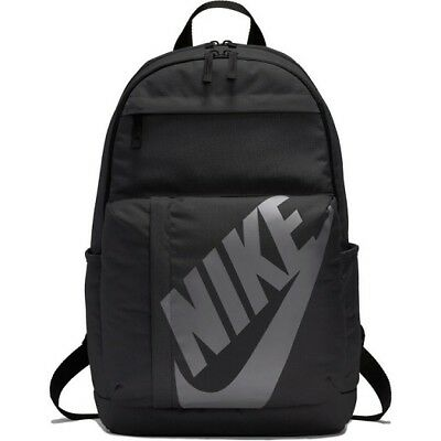 Nike Elemental Unisex Backpack Rucksack Gym Travel School Training Black New