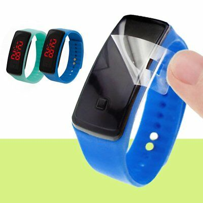 Fashion Digital LED Sports Watch Silicone Band Bracelet Men Women Boys Girls