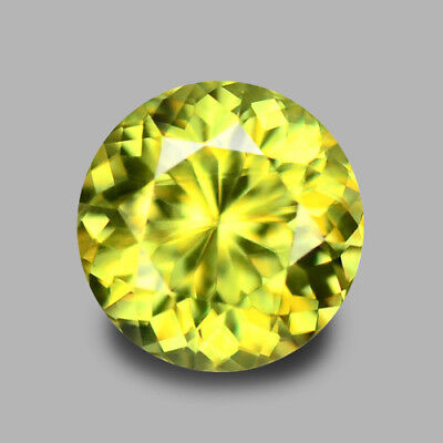 5.5Mm Round Portugese Cut Natural Sphene 0.69Cts Video In Description