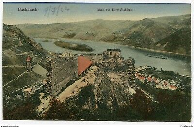 CPA - Carte postale -Allemagne - Bacharach - Blick and Burg Stahleck - 1922