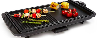 Electric BBQ Grill Hot Plate Griddle Portable Outdoor Indoor Camping Non Stick