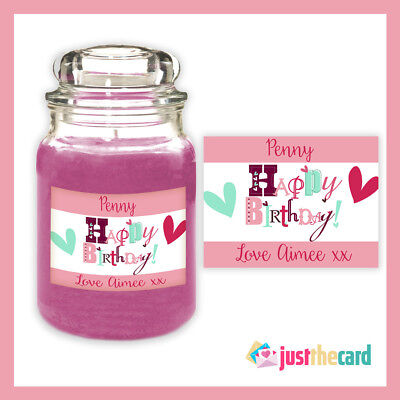 Personlised Happy Birthday Candle Label