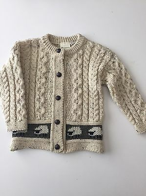 #1 Kid's Emerald Design Cardigan Sweater, Size: 4/5