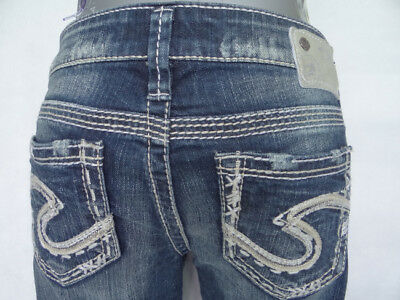 new women's jeans silver tuesday capri low rise size from 26 to 34 $72
