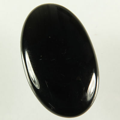 Fabulous 43.10 Cts Natural BLACK ONYX Gemstone Oval Cabochon 38x22 mm Best Offer