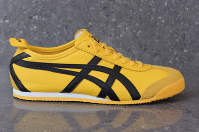 the latest 5f6b0 28804 ONITSUKA TIGER MEXICO 66 Trainers Yellow Black Asics Leather Ship Worldwide