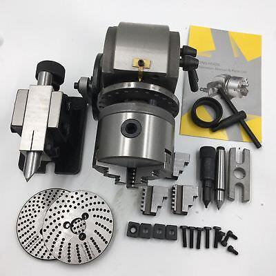 BS-0 Semi-Universal  Cnc Milling Dividing Head w/ Tail Stock Dividing Indexing