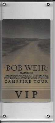 Bob Weir VIP campfire tour ticket lucite holograph Tower Theater 2016 Dead & Co