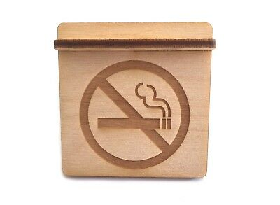 Wooden No Smoking Sign For Restaurants, Bars, Cafes, Schools and Workplaces