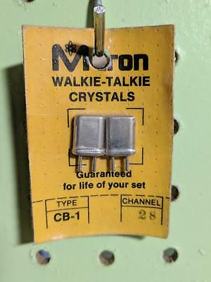 M-Tron Walkie Talkie Crystals Channel 28 -- MTron type CB-1