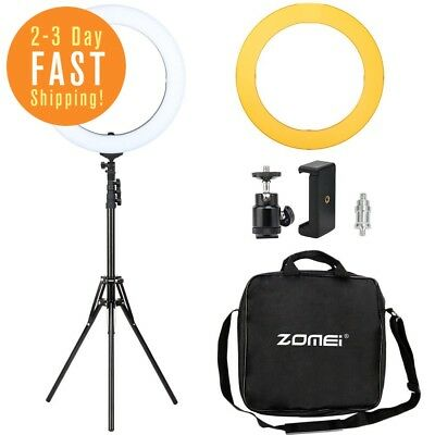 Zomei 18-inch Dimmable LED Ring Light Kit with Stand - (58W 5500K) - for Camera,