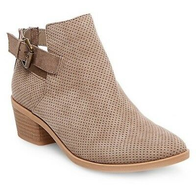 Dv Dolce Vita Sam Taupe Brown Ankle Boots Bootie Shoes Zipper Closure