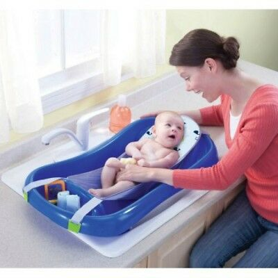 Sure Comfort Deluxe Newborn To Toddler Tub with Sling, Blue