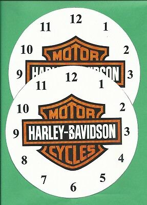 Pair of Harley Davidson Clock Face Dials   6 1/2 inches